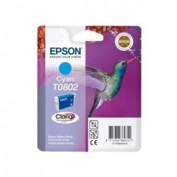 CARTUCCIA ORIGINALE EPSON C13T08024010 T0802 CIANO