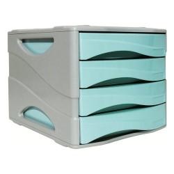 Cassettiera 4 Cassetti Arda Pastel Azzurro Pastello