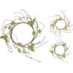 Decorazioni Pasquali, Corona con decori 12 cm colori assortiti