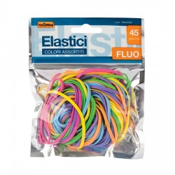 Elastici in bustine da 45 gr Fluo assortiti