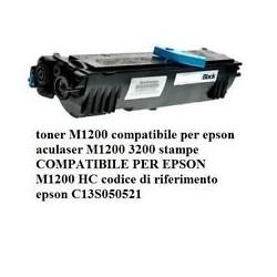 TONER EPSON ACULASER M1200 BK RIGENERATO NO OEM