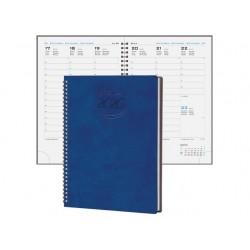 Agenda 2020 17X24 cm settimanale Pastel spiralato - Blu F03111