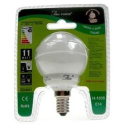 LAMPADINA BASSO CONSUMO ENERGETICO FORZE 11 WATT 2700K LUCE CALDA E14