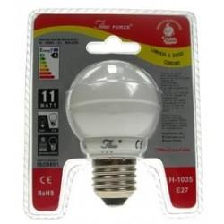 LAMPADINA BASSO CONSUMO ENERGETICO FORZE 11 WATT 2700K LUCE CALDA E27