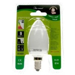 LAMPADINA BASSO CONSUMO ENERGETICO FORZE 11 WATT 6400K LUCE FREDDA E14