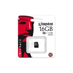 Memory Card MicroSD 16GB Kingston CL10