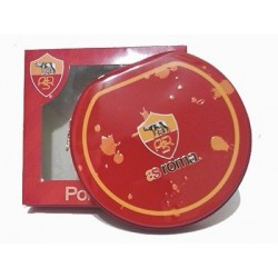 Porta cd dvd As Roma 20 posti in latta con zip 15x14 cm con stemma in rilievo colore rosso o arancione