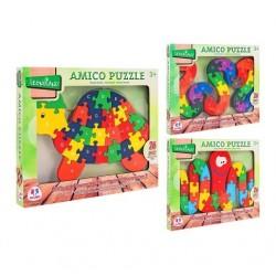 Puzzle legno 26 pezzi Lettere/Numeri Legnoland