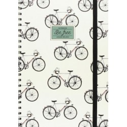 Quaderno a Righe legami con Spirale Maxi - BIKE 200 Pagine staccabili