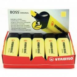 Scatola cartone evidenziatori Stabilo Boss Original - giallo - 2-5 mm CONF. 10 PEZZI