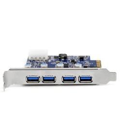 SCHEDA PCI-E USB 3.0 4 PORTE CSL NEC/5GBPS