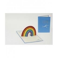 Biglietto D'Auguri Origamo ''Arcobaleno''