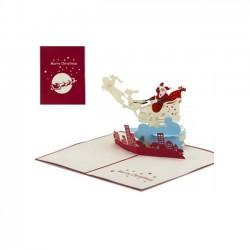 Biglietto D'Auguri Origamo ''Babbo Natale sulla Città''