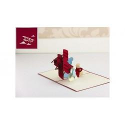 Biglietto D'Auguri Origamo ''Biplano''