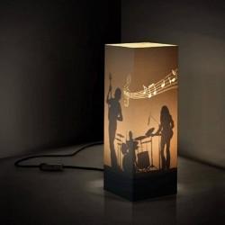 W-LAMP LAMPADA IN CARTONCINO-TAGLIO LASER BAND  H32
