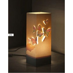 W-LAMP LAMPADA IN CARTONCINO-TAGLIO LASER CLASSIC COLLECTION CHECIA H32CM