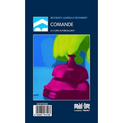 BLOCCO COMANDE RISTORANTE 25x2 FOGLI AUTORICALCANTI 17x9,9 cm