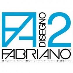 BLOCCO FABRIANO F2 20FG RUVIDO 24X33