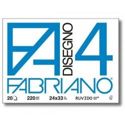 BLOCCO FABRIANO F4 20 FG RUVIDO 24X33