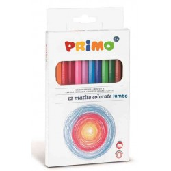 12 Pastelli Primo Colorate Grosse Laccate 100% FSC