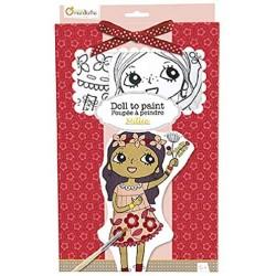 Bambolina Millie In Tessuto da Colorare con Kit di Colori Avenue Mandarine