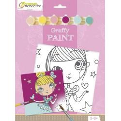 Kit Cartoncino Telato con Colori Graffy Vernice – Princess Avenue Mandarine